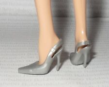 SHOES ~ BARBIE BASICS DOLL MODEL MUSE SILVER GRAY SLING BACK PUMP HIGH HEEL