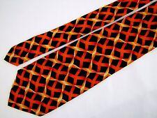 CUFFS Chagrin Falls Lux Haberdashery Twisted Mesh Safety Net Fence Silk Neck Tie