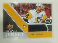 2020-21 Upper Deck Series 1 Kris Letang UD Game Jersey Pittsburgh Penguins