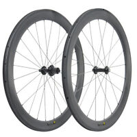 700C 55mm Depth Tubeless Carbon Wheel  Hub Road Bike Wheelset UD matt basalt