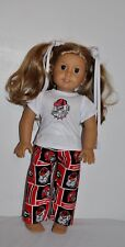 American Made Doll Clothes For American Girl Dolls = Georgia Bulldogs- Pjs