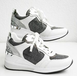 Michael Kors Schuhe Sneaker Crista Trainer Glitter Chain Mesh  Gr.39 Neu