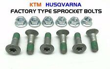 KTM SX SXF EX EXC XC XC-W FACTORY TYPE TORX SPROCKET BOLT KIT 1995-2018 65-550