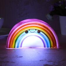 Kid Rainbow Battery LED Home Party Decor Night Light Table Lamp Christmas Gift