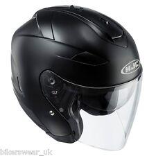 HJC IS-33 2 Matt Black Open Face Motorcycle/Scooter Helmet With Sun Visor