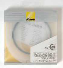 Nikon NC Neutral Color filter protection UV 72mm Camera Photograph
