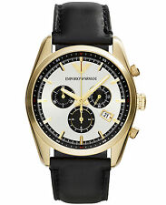 NEW EMPORIO ARMANI AR6006 MENS GOLD CHRONOGRAPH WATCH - 2 YEAR WARRANTY