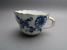Meissen Neuer Ausschnitt Zwiebelmuster Goldrand Kaffeetasse um 1900