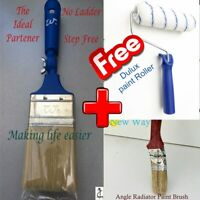 "Extension Pole Paintbrush 2½"" Adjustable for Free Dulux Paint Roller + Angle RPB"