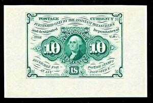 US 10c Fractional Currency Note FR 1243sp Wide Margin Specimen Ch AU