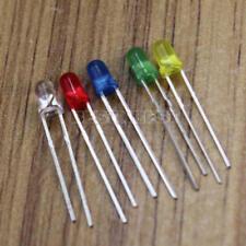100pcs 2 Pins Lampe LED émetteur 3mm Diode Rouge Vert Bleu Jaune Blanc Lumière