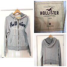 Hollister Surf Club Grey Hoodie Zipped Mens Size Medium M (C641)