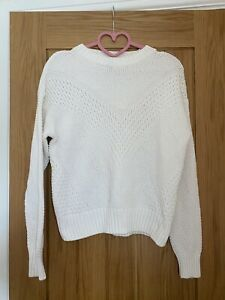 H&M White Knitted Sweater XS