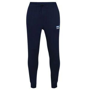 NEW BALANCE Logo Jogging Pants Mens Blue Size UK L *REF181