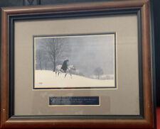 Arnold FRIBERG Winter At Valley Forge Print Framed COA Isaiah George Washington
