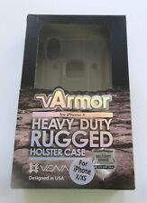 vArmor Heavy Duty Rugged Holster Case- Cell Phone- For iPhone X/XS- black NIB