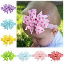 10Pc Baby Girl Headband Lace Bowknot Headwear Elastic Hair Band Flower Headdress