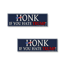 Anti Trump - Honk If You Hate Trump 2 pack of bumper stickers Decals - 2 pack