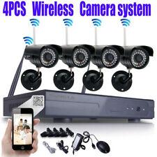 4CH Wireless 1080P NVR Outdoor IR 720P IP WIFI Camera CCTV Security System Video