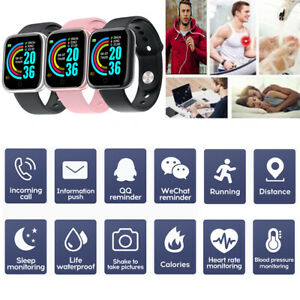 Y68 Smart Watch Fitness Tracker Blood Pressure Heart Rate For IOS Android 2021
