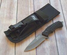 Couteau Tactical Mtech Xtreme Lame Acier 440C Manche G-10 Etui Nylon MTX8114