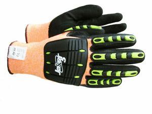 Joker #MX1135#7 Hi-Vis Orange Cut Level 5 Impact Gloves, Size 7 (PACK OF 12)