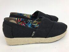 NEW Women's SKECHERS Bobs Memory Foam 7.5 Wedge Espadrille Shoes Black