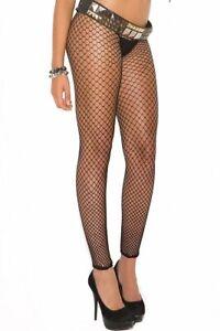 New Women's Black Fencenet Footless Pantyhose Stockings Tights