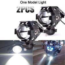 2x Motorcycle Motorbike 125W CREE U5 LED Driving Headlight Fog Lamp Spot Light
