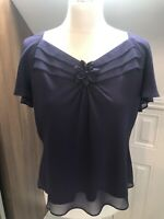 Jacques Vert BNWT Purple Blouse Top Size 14
