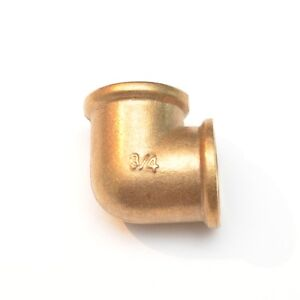 """3/4"""" Female BSP British 90 Degree Elbow Brass Fitting Fuel, Air, Water, Oil, Gas"""