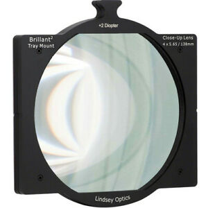 "Lindsey Optics 4x5.65"" Diopter +2 Tray Mount Close-Up Lens MFR# L-4565-DIOPTER2"