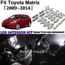 8x White LED Interior Lights Package Kit For 2009- 2012 2013 2014 Toyota Matrix