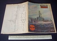 Vintage Maly Modelarz Poland 1980 #11-12 Card Cut-Out Model Book Polish Warship