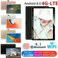 10.1'' Tablet 8G+128G Android 8.0 Bluetooth 4G WiFi PC Dual Camera GPS Phablet