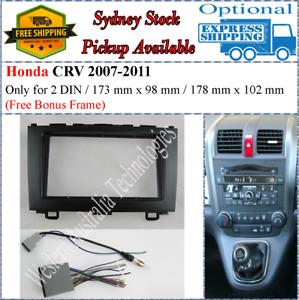 Harness + Fascia facia Fits Honda CRV CR-V 2007-2011 Double Two 2 DIN Dash Kit-