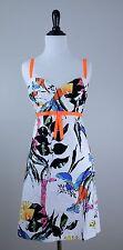 COREY LYNN CALTER Zoo Safari Animals Giraffe  Butterflies Strapless Dress Sz 12