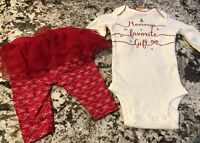 NWT BABY GIRL 2 PIECE CHRISTMAS OUTFIT SIZE 3 MONTHS