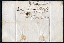 3-STUIVER stempel R-12 op brief 1793 van Delft naar Amsterdam