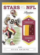2012 Prestige Stars Of The NFL #35 Brian Orakpo 3 Color Prime Patch #46/49