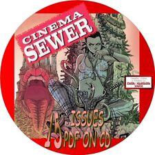 CINEMA SEWER MAGAZINE - 15 ISSUES - PDF FILES ON CD - SEX, SMUT, DEPRAVITY