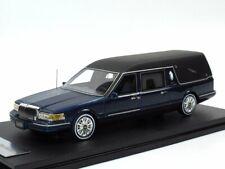 GLM 1997 Lincoln Towncar Hearse blau metallic Limited Edition 1/43