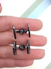 FREE GIFT BAG Mens Star Wars Ships TIE Fighter Cufflinks Cuff Links Jewellery