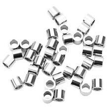 20x Metal Spacer Loose Stainless Steel Beads Big Hole 3.2mm Jewelry Findings