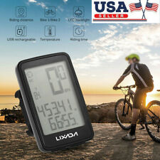Lixada USB Rechargeable Wireless Bike Computer W/Bicycle Speedometer Odometer