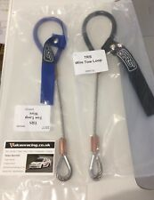 Set of 4 TRS 300mm Black FIa/MSA Steel Wire Cable Tow Eye Strap Loop MA615-0001