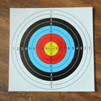 10pcs 60*60cm Outdoor Archery Target Paper Face For Arrow Bow Shooting Hunting
