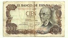 BILLETE DE 100 PESETAS DE 1970 (BC-) FALLA (SERIE 1H) REVERSO VERDE