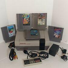 Nintendo Original NES System Bundle Lot 5 Games Defender 2 Battle Of Olympus