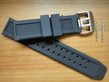 7251 3050 3051 6402 Navy Seal 23mm soft Rubber Silicon Band Strap FITS Luminox